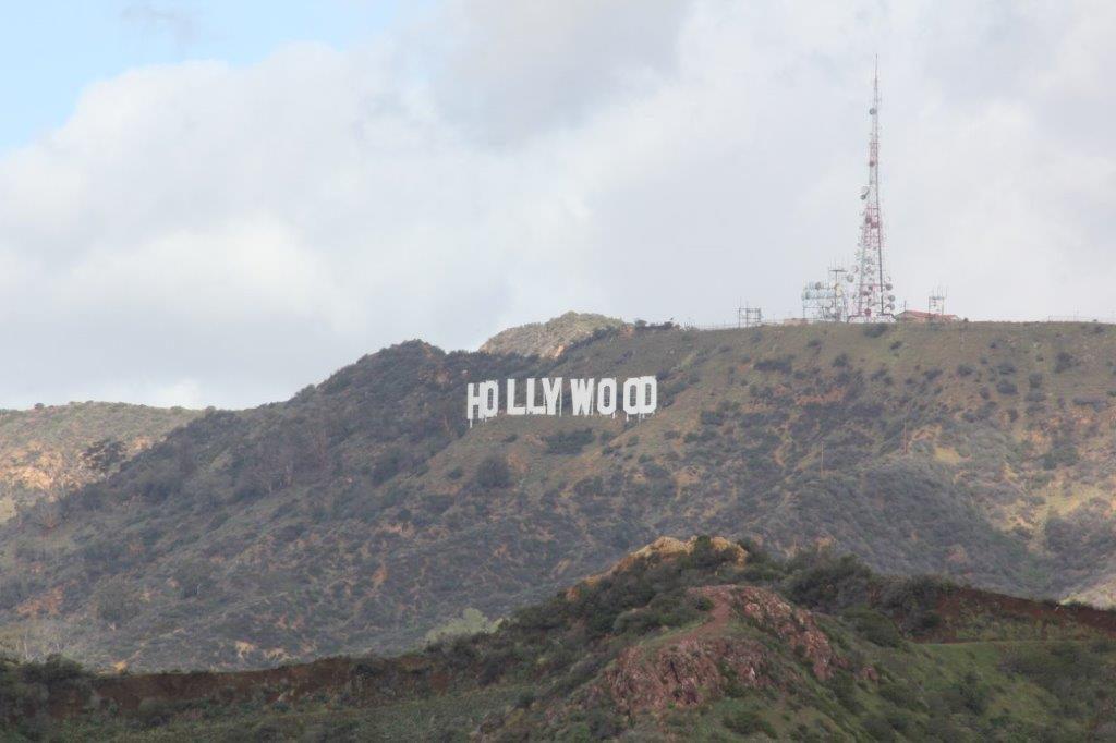 Hollywood-Schild gesehen von der Sternwarte