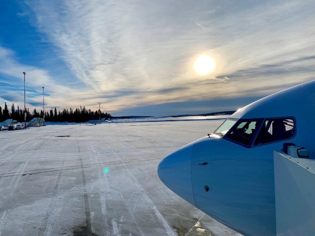 Finnland Lappland Flughafen Kittila