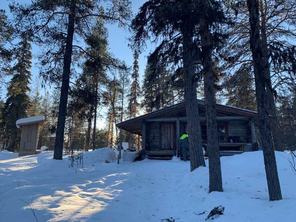 Wildnishütte Huskytour