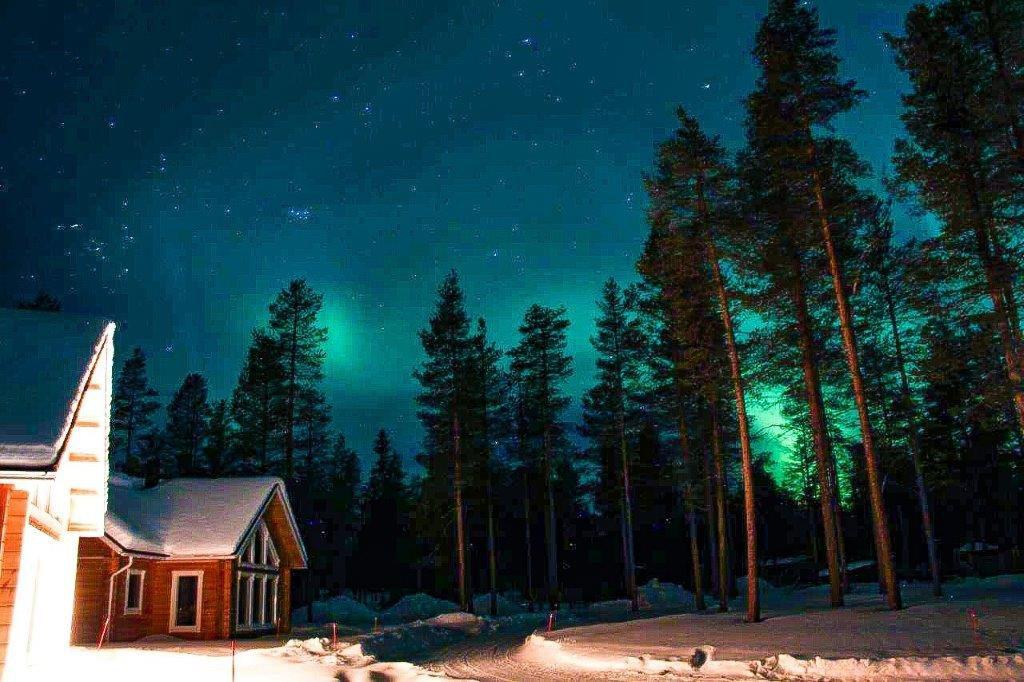 Nordlicht Lappland Februar